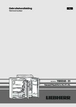 Gebruiksaanwijzing LIEBHERR koelkast TP1444-20