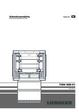 Gebruiksaanwijzing LIEBHERR koelkast french door CBNes6256-25
