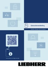 Gebruiksaanwijzing LIEBHERR koelkast inbouw DRF3901-20