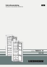 Gebruiksaanwijzing LIEBHERR koelkast inbouw ICBN3324-22