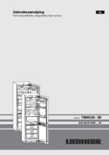 Gebruiksaanwijzing LIEBHERR koelkast inbouw ICNP3366-21