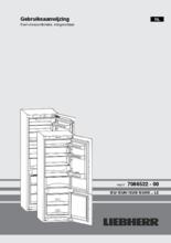 Gebruiksaanwijzing LIEBHERR koelkast inbouw ICUNS3324-20