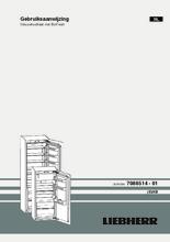 Gebruiksaanwijzing LIEBHERR koelkast inbouw IKB3520-22