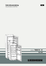 Gebruiksaanwijzing LIEBHERR koelkast inbouw IKBP2764-22