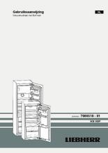 Gebruiksaanwijzing LIEBHERR koelkast inbouw IKBP3564-22