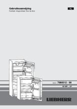 Gebruiksaanwijzing LIEBHERR koelkast inbouw IKP1664-21