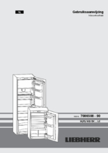 Gebruiksaanwijzing LIEBHERR koelkast inbouw IKS2330-21