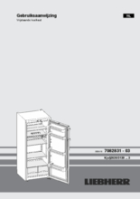 Gebruiksaanwijzing LIEBHERR koelkast kastmodel K2630-21
