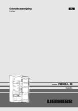 Gebruiksaanwijzing LIEBHERR koelkast kastmodel K2814-21