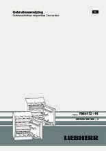 Gebruiksaanwijzing LIEBHERR koelkast onderbouw UIK1424-23