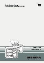 Gebruiksaanwijzing LIEBHERR koelkast onderbouw UIK1620-23
