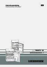 Gebruiksaanwijzing LIEBHERR koelkast onderbouw UK1720-23