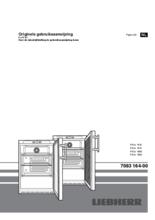 Gebruiksaanwijzing LIEBHERR koelkast professioneel onderbouw rvs FKUv1663-22