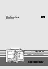 Gebruiksaanwijzing LIEBHERR koelkast tafelmodel TP1720-22