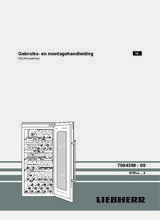 Gebruiksaanwijzing LIEBHERR koelkast wijn inbouw WTEes2053-23