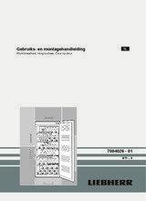 Gebruiksaanwijzing LIEBHERR koelkast wijn inbouw WTI2050-23