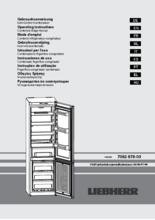 Gebruiksaanwijzing LIEBHERR koelkast wit CN4213-23