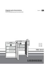 Gebruiksaanwijzing LIEBHERR professionele koelkast onderbouw zwart FKUv1613-24-744
