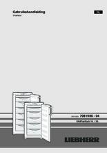 Gebruiksaanwijzing LIEBHERR vrieskast GNP2333-20