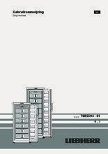 Gebruiksaanwijzing LIEBHERR vrieskast GP3513-20