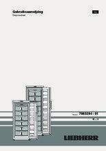Gebruiksaanwijzing LIEBHERR vrieskast GP4013-20