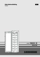 Gebruiksaanwijzing LIEBHERR vrieskast SGNEF3036-22