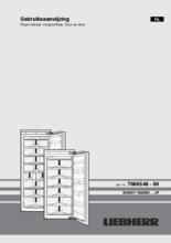 Gebruiksaanwijzing LIEBHERR vrieskast inbouw SIGN3556-21