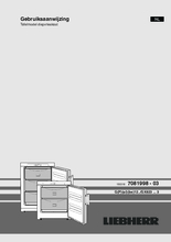 Gebruiksaanwijzing LIEBHERR vrieskast tafelmodel G1223-21