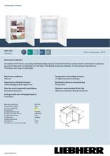 Gebruiksaanwijzing LIEBHERR vrieskast tafelmodel GNP1076-20