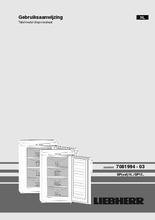 Gebruiksaanwijzing LIEBHERR vrieskast tafelmodel GP1486-21