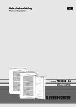 Gebruiksaanwijzing LIEBHERR vrieskast tafelmodel GP1496-20