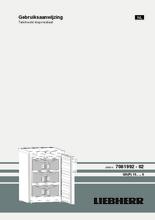Gebruiksaanwijzing LIEBHERR vrieskast tafelmodel no-frost GN1066-21