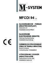 Gebruiksaanwijzing M-SYSTEM fornuis inductie antraciet MFCDI94AN