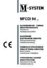 Gebruiksaanwijzing M-SYSTEM fornuis inductie oudwit MFCDI94OW
