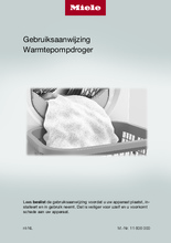 Gebruiksaanwijzing MIELE droger warmtepomp TED375WP