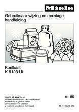 Gebruiksaanwijzing MIELE koelkast onderbouw K9123UI