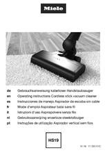 Gebruiksaanwijzing MIELE stofzuiger TRIFLEX HX1 SELECT