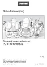 Gebruiksaanwijzing MIELE vaatwasser PG 8110 SMARTBIZ