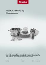 Gebruiksaanwijzing MIELE vaatwasser inbouw G5073SCVI