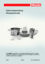 Gebruiksaanwijzing MIELE vaatwasser inbouw G6577 SCVi XXL