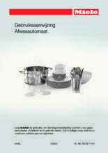 Gebruiksaanwijzing MIELE vaatwasser inbouw G6995 SCVi XXL K2O