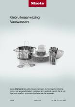 Gebruiksaanwijzing MIELE vaatwasser inbouw G7166 SCVI XXL