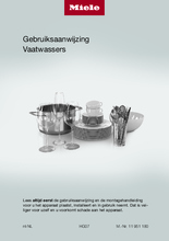 Gebruiksaanwijzing MIELE vaatwasser inbouw G7278 SCVI XXL