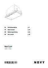 Gebruiksaanwijzing NOVY afzuigkap inbouw 26050