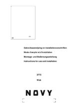 Gebruiksaanwijzing NOVY kookplaat inductie inbouw 3773