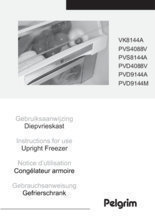 Gebruiksaanwijzing PELGRIM vrieskast inbouw PVD4088V