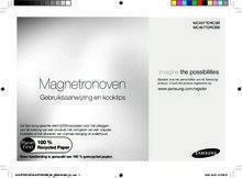 Gebruiksaanwijzing SAMSUNG combi-magnetron MC457TDRCSR