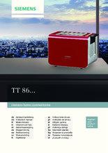 Gebruiksaanwijzing SIEMENS broodrooster TT86103