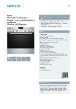 Gebruiksaanwijzing SIEMENS combinatie oven inbouw HE23AB502