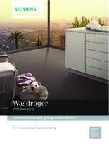 Gebruiksaanwijzing SIEMENS droger warmtepomp WT45W490NL